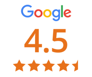 google review score 4.5 out of 5